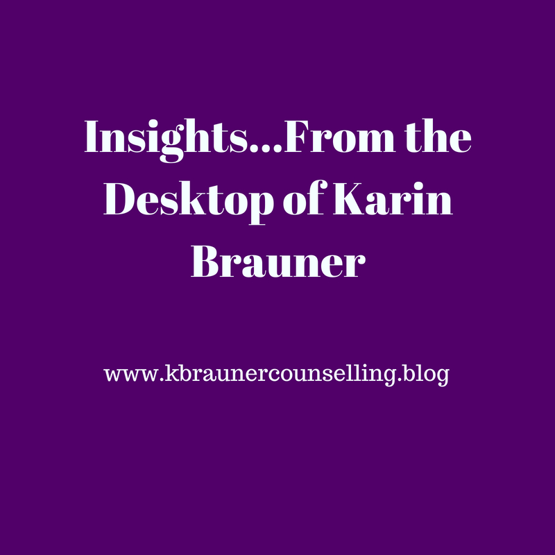Insights...From the Desktop of Karin Brauner